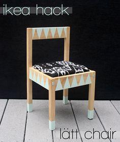 blackblondebrunette | kids chair diy | ikea hack