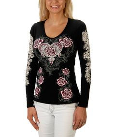 Loving this Black & Pink Wing Top - Women & Plus on #zulily! #zulilyfinds