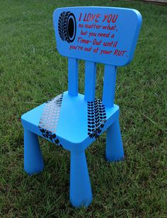 Time out Chair Kids Furniture Blue Boys by TheCraftyGeeks, $35.00