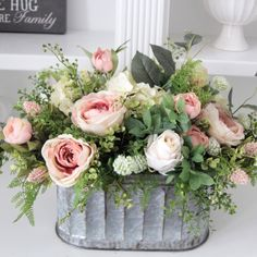 SimplyStems shared a new photo on Etsy - Lovely French Country/Cottage centerpiece You are in the right place about garden Here we offer you - Hortensien Arrangements, Spring Flower Arrangements, Beautiful Flower Arrangements, Elegant Flowers, Floral Centerpieces, Silk Flowers, Spring Flowers, Beautiful Flowers, Wedding Centerpieces
