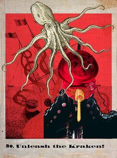 Artist George Lewis Hartley — iracarterart: #pariscollagecollective... Octopus Squid, Collage, Paris, Collection, Collages, Montmartre Paris, Paris France, Collage Art, Colleges