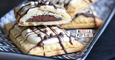 Delicious little homemade Pop Tarts with Nutella filling - perfect little sweet snack.