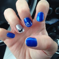 Half marathon nails!! Showing love for my Nike gear too