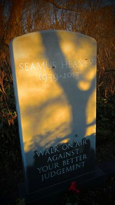 Bellaghy native and Ireland's greatest poet Seamus Heaney Gravestone.RIP Seamus!!! Copyright B O'Neill