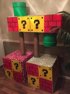 Cat tree, geek style ! Super Mario cat tree