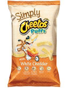 Cheetos Simply Natural White Cheddar Puffs Gluten Free