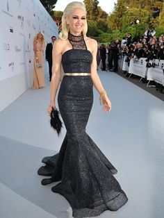 Gwen Stefani in one of her own L.A.M.B. designs at a charity Gala during the Cannes Film Festival, 2011.