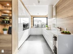 I love the wood walls and pale floor. It's gorgeous! Best Kitchen Lighting, Kitchen Lighting Design, Kitchen Room Design, Modern Kitchen Design, Home Decor Kitchen, Kitchen Layout, Interior Design Kitchen, Home Kitchens, Contemporary Kitchen Interior