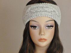 Cable Knitted Headband Ear Warmer Cozy Turban Headband by BoPeepsBonnets, $28.00 https://www.etsy.com/listing/190636917/cable-knitted-headband-ear-warmer-cozy #KnitHeadband #EarWarmer #HairWrap #Turban #BoPeepsBonnets