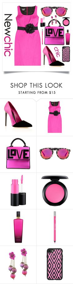 """""""STYLED IN HOT PINK"""" by qstyled ❤ liked on Polyvore featuring Oscar de la Renta, Boutique Moschino, Les Petits Joueurs, Westward Leaning, MAC Cosmetics, Victoria's Secret, Urban Decay, Michal Negrin and Casetify"""