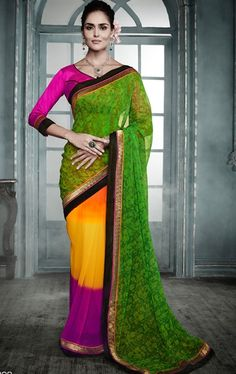 Picture of Wonderful Multi Color Casual Printed Saree