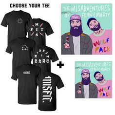 Misadventures CD, Autographed Poster, and Choice of Tee