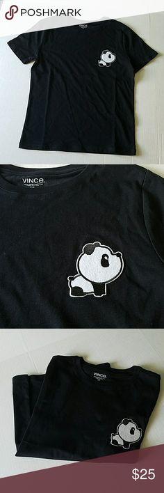 (Boys) Panda T-shirt Black Panda shirt. Panda Patch has been added onto shirt....Brand New Vince Shirts & Tops Tees - Short Sleeve