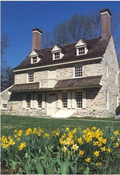Harriton House, Bryn Mawr, PA, built in 1704 for Welsh Quaker Rowland Ellis. A notable pre-Georgian dwelling representing the earliest period of English construction in Pennsylvania, just 8 years later than the original section of the Thomas Massey house.