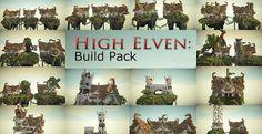High Elven Build Pack City Minecraft Elven Minecraft creations