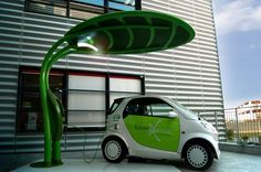Leaf-Shaped Lotus Electric Vehicle Charger Doubles as a Solar-Powered LED Streetlight! Ev Charger, Electric Car Charger, Solar Charger, Electric Cars, Electric Vehicle, Solar Charging Station, Ev Charging Stations, Solar Projects, Cars