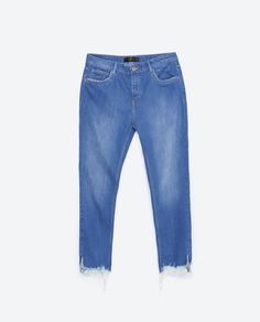 Image 6 of JEANS WITH UNEVEN HEM from Zara