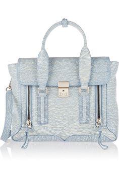 3.1 Phillip Lim|The Pashli medium textured-leather trapeze bag. I need this bag!