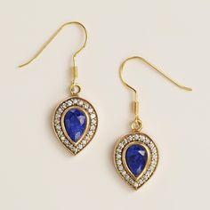 Sapphire and Cubic Zirconia Teardrop Earrings | World Market