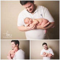 dad and newborn poses - newborn with dad