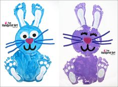 Make a darling Paper Plate Footprint Bunny Easter Craft with the kids! Fun for kids aged toddler to early elementary age.