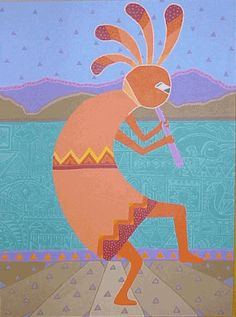 Kokopelli Art Anasazi And Hopi God On Pinterest Native