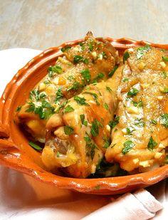 Poulet au hachis d'ail et persil
