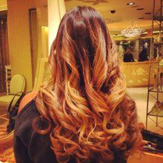 Ombré hair. My ombré hair styled at The Wynn in Vegas.