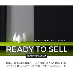 How to Get Your Home Ready to Sell https://realtytimes.com/advicefromagents/item/1013922-how-to-get-your-home-ready-to-sell #RealEstate #MortgageUpdated #HomeSelling via @madisonmortgage