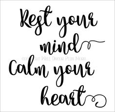 Rest Your Mind Vinyl Wall Decal Encouranging Affirmation Quote - Wall Decor Plus More