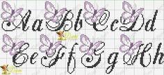 Embroidery letters alphabet punto croce ideas for 2019 Cross Stitch Alphabet Patterns, Cross Stitch Letters, Cross Stitch Boards, Cross Patterns, Stitch Patterns, Christmas Embroidery Patterns, Embroidery Letters, Embroidery Patterns Free, Embroidery Fonts