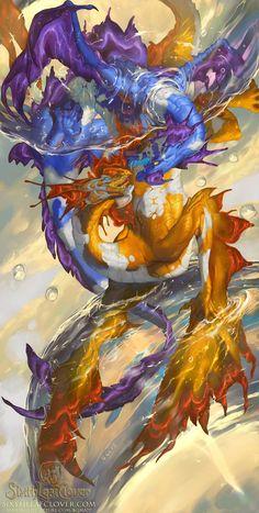 2016 Zodiac Dragons Pisces, Christina Yen on ArtStation at https://www.artstation.com/artwork/2016-zodiac-dragons-pisces