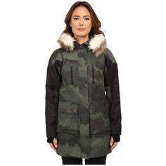 Burton Olympus Jacket Women's Coat ($250) ❤ liked on Polyvore featuring outerwear, coats, burton, hooded coats, burton coats, quilted coat and long sleeve coat