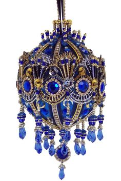 La Boule De Bleu Royale  A Christmas by DavidASmithDesigns on Etsy, $138.00