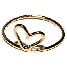 Kiel Mead Heart Ring ($50) found on Polyvore