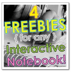 4 freebies for any interactive notebook!