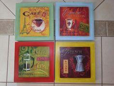 Cuarteto de cuadros Café