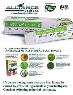NaturaCentials Herbal Toothpaste cleans teeth, fights cavities, prevents plaque, keeps gums healthy, and freshens breath. Oral Health, Health And Wellness, Aloe Vera, Herbal Toothpaste, Bee Propolis, Kidney Disease Symptoms, Heath Care, Amai, Teeth Cleaning