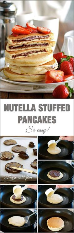 Pancakes with nutella