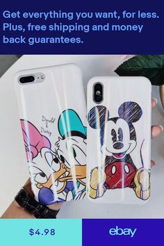 Family World Watercolors Mickey Minnie Mouse Clear Soft Tpu Silicone Cover Case For Iphone Xs Max Xr X 6 6s 7 8 Plus To Rank First Among Similar Products Boys' Shoes
