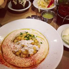 Get the chicken skewers with hummus or the rice bowl. I'm in love with this place-- best hummus/Mediterranean I've had!
