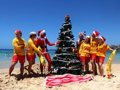 Australia's world famous Bondi Beach hosts the annual Sunburnt Christmas Festival on Christmas Day. About 4000 partygoers celebrate a summertime Christmas on the beach with DJs, bikini contests and an Aussie BBQ lunch.