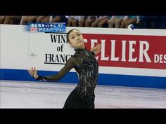 "Yuna Kim of Korea  ""Dance of death""  Look at her expression.."