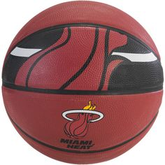 Got this for my boy as one of his B-DAY gifts, he's a BIG HEAT fan! Spalding NBA Miami Heat Team Ball, Spalding NBA Basketball, Official Size Basketball, Outdoor Play Basketball