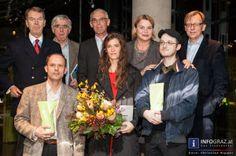 #Bilder aus dem #Grazer #Kunsthaus: Vergabe der #Förderungspreise des #Landes #Steiermark für zeitgenössische bildende Kunst 2013 am 7.11.2013. An die #Künstler und Künstlerinnen #Angelika #Loderer, #Gregor #Schmoll und #Michael #Gumhold wurden Sponsoren-Preise vergeben.