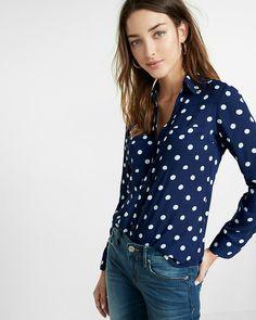 6c0669e7e25 slim fit polka dot portofino shirt