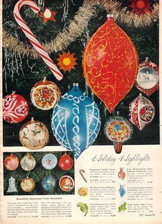 sparkly ornaments for the 1959 Christmas tree