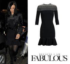 Shop Celebrity Closet: Katy Perry Alexander McQueen Pearl Embellished Dress - http://www.becauseiamfabulous.com/2013/12/katy-perry-alexander-mcqueen-pearl-embellished-dress/