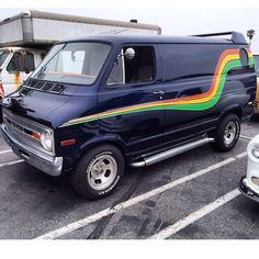 California Street Van member.  Neat location of side mirror on this custom 70's Dodge van