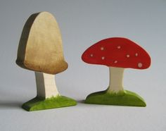 Wooden Hedgehogs and Toadstool Toys Waldorf Toy by Imaginationkids, $25.00